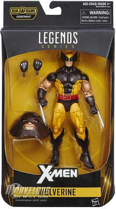 Wolverine Brown and Yellow X-Men Marvel Legends Juggernaut Series Wave IN HAND #Hasbro