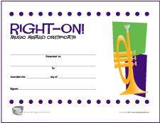 Free Choir Music Award Certificates  HttpMakingmusicfunNet
