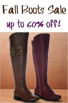 Fall Boots Sale ~ up to 60% off! #boots