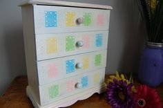 Restored Jewelry Box  Antique White with by RejuvenationStudios, $65.50
