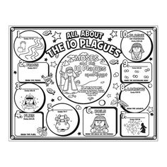 """Color Your Own """"All About The 10 Plagues"""" Posters - OrientalTrading.com"""
