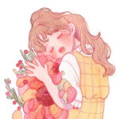 제일 좋아하는 그림인데 올린적이 없어서 올려요🍒 그릴때 너무 행복한 감정이 그대로 나온거 같아서 제일 좋아해요! Art And Illustration, Character Illustration, Drawing Reference Poses, Art Reference, Aesthetic Art, Aesthetic Anime, Character Art, Character Design, Human Art