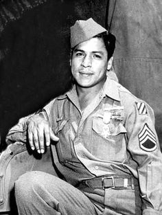 "Mexican-American Lucian Adams was born in Port Arthur, Texas and served as a Staff Sergeant in the 30th Infantry, 3rd Infantry Division from 1943–1945 during World War II.     Adams was awarded a Medal of Honor, Bronze Star and a Purple Heart ""For conspicuous gallantry and intrepidity at risk of life above and beyond the call of duty."""
