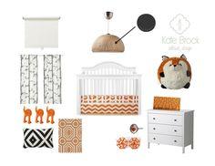 Boy Nursery l Orange & Black Nursery l Kate Brock Interior Design