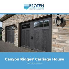 Carriage House Garage Doors, Curb Appeal, Florida, House Styles, Outdoor Decor, Modern, Beautiful, Home, Design