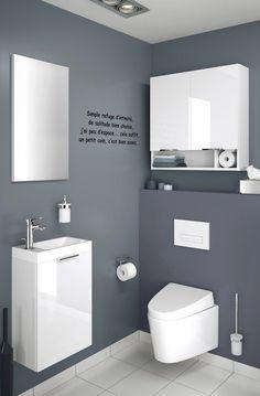 Petite salle de bains : pratique et mignonne