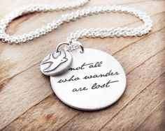 Not all who wander are lost   Inspirational by lulubugjewelry, $69.00