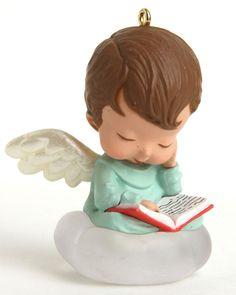 Joy Hallmark Mary's Angels Ornament #6 in Series 1993 Xmas Reading Book No Box