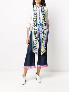 Emilio Pucci Sirens Song-print Scarf - Farfetch Emilio Pucci, Sirens, Accessories Shop, Kimono Top, Pajama Pants, Songs, Shopping, Women, Fashion