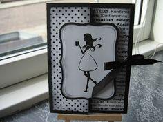 De kreative piger: Konfirmationskort til pige
