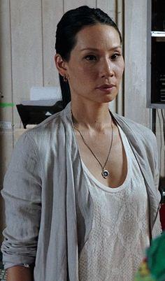 Joan's white snake print tank top on Elementary.  Outfit Details: http://wornontv.net/21284/ #Elementary