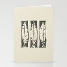 Ethnic Feathers Stationery Cards by Nameless Shame - $12.00