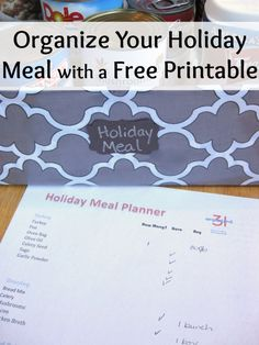 Organize a Holiday Meal Planner Free Printable - Organized 31