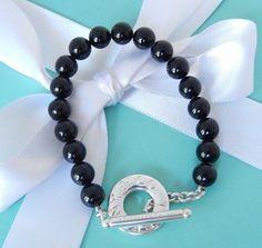 26772cdc7 Tiffany & Co Silver Black Onyx Bead Ball Silver Toggle Bracelet  Beautiful! #TiffanyCo