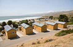 Jalama Beach Cabins, luxury camping with a view. Custom built for Santa Barbara County Parks Department by API Trailers.