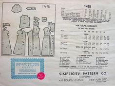 UNCUT Vintage 1930's Simplicity NRA Pattern 1418 // di anne8865