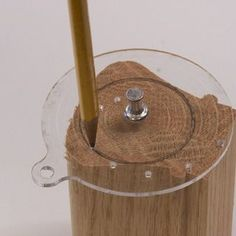 A Small Circle Center Finder & Drawing Aid - This may help me with carving, and other crafts!