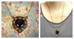 HANDMADE Vintage Brass Heart Charm Necklace ($13)