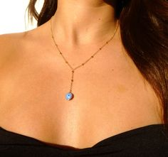 Evil Eye Necklace, 14kt Gold Filled Chain, Gold, Eye Necklace, Evil Eye Jewelry, Middle Eastern Jewelry on Etsy, $40.00