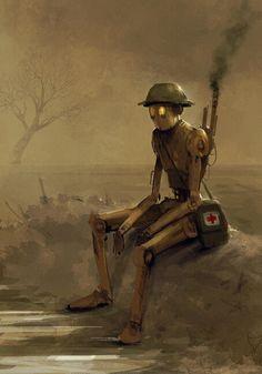 """""""Robot Medic"""" by Jakub Rozalski"""