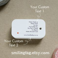 Care Label Personalized Gift Tags