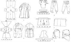 Монгольские нижние брюки средневековья