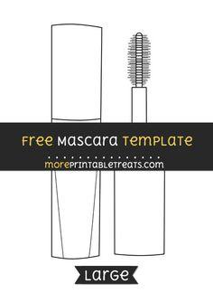 Free Mascara Template - Large
