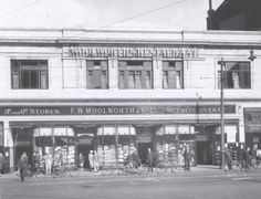 https://flic.kr/p/cmUpWJ | Woolworths Store | Around the shops - The sun is shining on Leicesters Woolworth store in Gallowtree Gate in this photograph and not just in a literal sence. The shop is a hive of activity with customers congregating around the packed window displays and milling in and out of the store, eager to spend their 6d! The fine weather has also brought many customers out into the city centre on their bicycles and, judging f...rom the number of cycles propped up against…