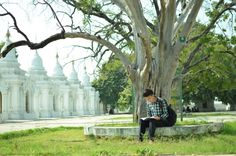 """Beautiful Kuthodaw Pagoda, Mandalay Myanmar     Kuthodaw Pagoda is famous for its """"World Largest Book"""" built by King Mindone over hundred year ago. It contains Buddha Tipitaka scripts caved in inscription stones seen as white stupas in the photo."""