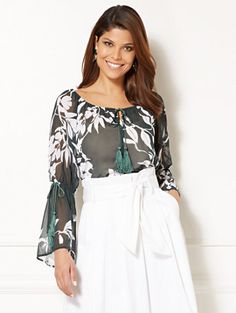 Shop Eva Mendes Collection - Bridgette Blouse. Find your perfect size online at the best price at New York & Company.