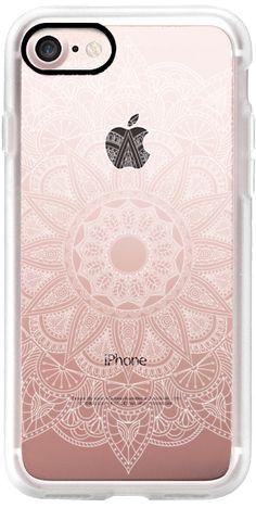 Casetify iPhone 7 Classic Grip Case - Lace Mandala - White by Ruby Ridge Studios #Casetify