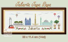 Jakarta Jaya Raya  Jakarta Landmarks PDF Cross Stitch Chart