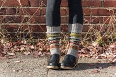 Finished Project: Skolt Sámi Boot Socks — Kelbourne Woolens no pattern
