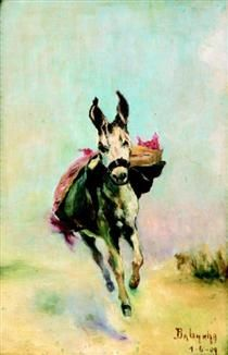 Burrinho correndo - Anita Malfatti