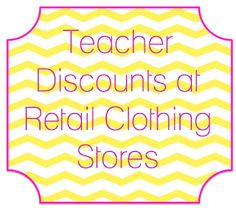 The Adorable Mess: Confessions of a Teacher Shopaholic: Clothing Discounts for Teachers