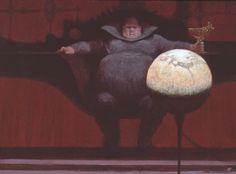 bigredrobot:  cronopio:  Dune art by John Schoenherr  Spice must...
