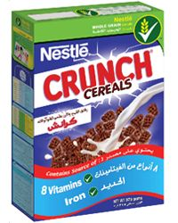 Nestle Crunch Cereal (like chocolate Chex)