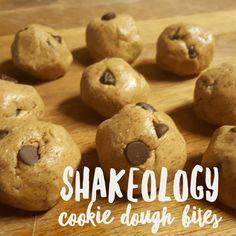 Vanilla Shakeology Cookie Dough Bites