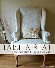 Redo It Yourself Inspirations : Wing Back Chair Makeover - Take A Seat