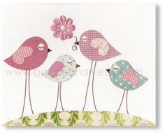 Nursery art prints, baby nursery decor, nursery art, kids room decor, nursery girl, nursery birds, Pink, Sisterhood 8x10 print