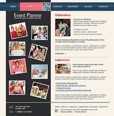 Event Planner Website Templates by Solus