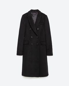 DOUBLE BREASTED LAPEL COAT from Zara