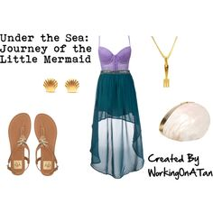 Under the Sea: Journey of the Little Mermaid by workingonatan. Polyvore