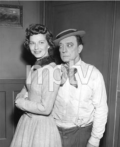 Eleanor and Buster Keaton on the set of The Silent Partner