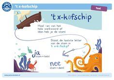 Vul de zwakke werkwoorden in Einstein, Spelling For Kids, Learn Dutch, School Computers, Numbers Preschool, Wreck This Journal, School Posters, Social Work, Child Development