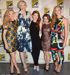 Girl power: The lovely ladies of the show posed for a photo together ahead of the Q&A session