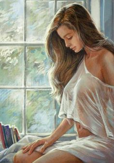 Art by Zorina Baldescu Woman Painting, Figure Painting, Comics Und Cartoons, Painted Ladies, Arte Pop, Beautiful Paintings, Erotic Art, Figurative Art, Female Art