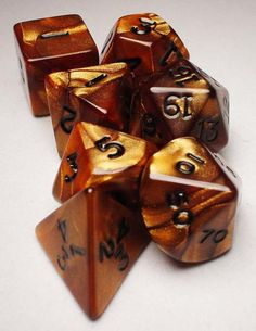 FRP GAMES - PRODUCT - Koplow RPG Dice Sets: Bronze/Black Olympic Polyhedral 7-Die Set Dice Roller, Dungeons And Dragons Dice, Lets Play A Game, Dnd Characters, Pen And Paper, Magic The Gathering, Decir No, Board Games, Geek Stuff