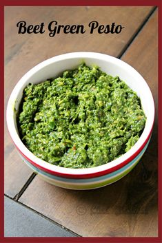 Many people throw away these beet greens but they are delicious and so full of nutrition. Sometimes I just chop them up and mix with Romaine for a salad. However, this Vegan pesto is a great use of them Healthy Dip Recipes, Healthy Dips, Best Vegan Recipes, Chef Recipes, Healthy Cooking, Mexican Food Recipes, Healthy Eating, Ethnic Recipes, Green Pesto