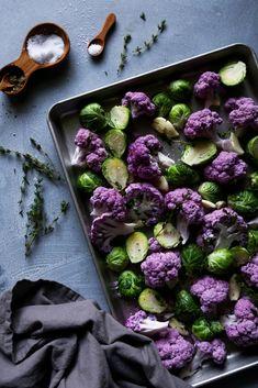 Roasted Cauliflower & Brussel Sprouts | Gluten & grain free side. Vegan/paleo friendly